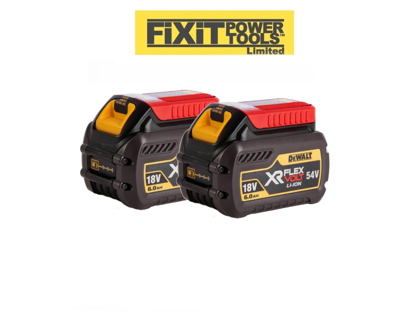 DeWalt DCB546 18V//54V 6.0Ah Li-ion FlexVolt XR Slide Battery Twin Pack